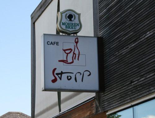 Bildgeschichte: das Cafe Stopp ist wieder geöffnet