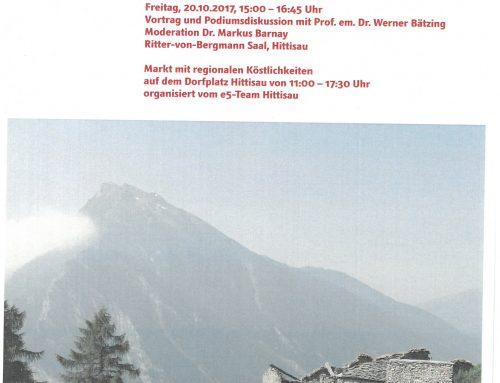 Vortrag & regionaler Markt in Hittisau