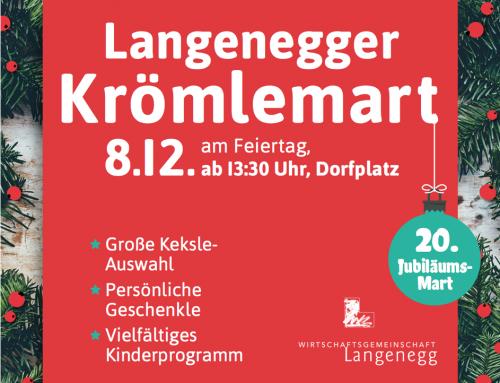 20. Langenegger Krömlemart am 08. Dezember