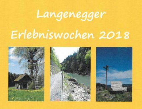 Langenegger Erlebniswochen 2018