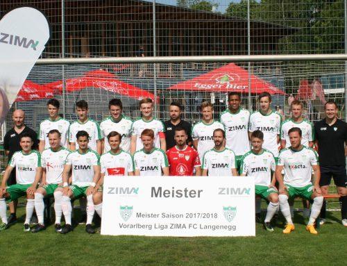 Geglückte Meisterfeier des ZIMA FC Langenegg