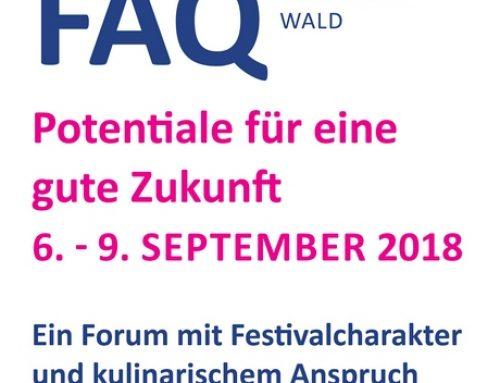 Kultureller Leckerbissen: FAQ Bregenzerwald 2018