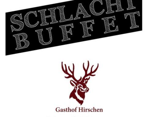 Einladung zum Schlachtbuffet im Gasthof Hirschen