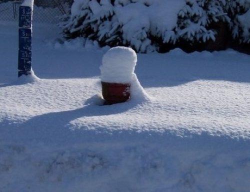 Ausschaufeln der Hydranten in den Wintermonaten