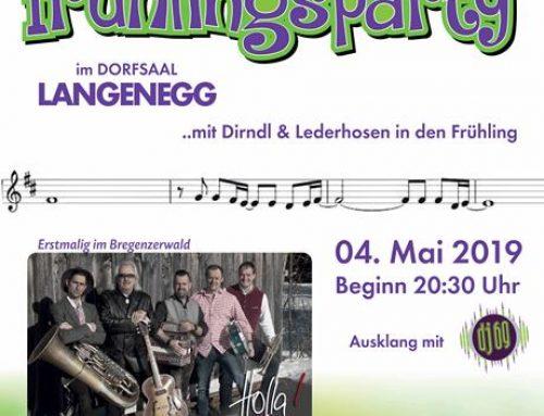 Einladung zur Frühlingsparty im Dorfsaal
