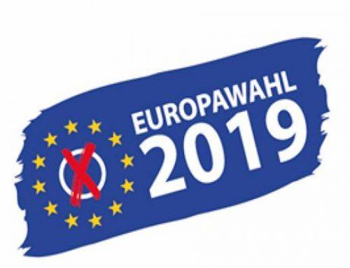 Europawahl 2019: am 26. Mai kann gewählt werden