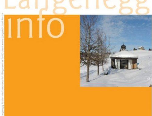 Die aktuelle Langenegg-Info: Februar 2020