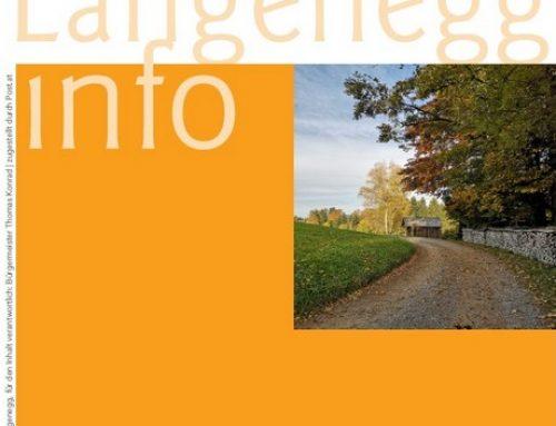 Die aktuelle Langenegg-Info: November 2020