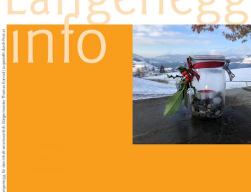 Die aktuelle Langenegg-Info: Dezember 2020